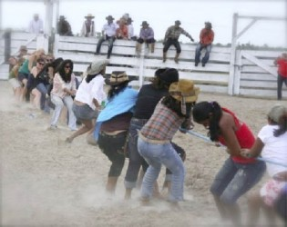 Tug-of-war at Rupununi rodeo