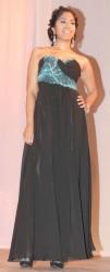 Tiffany Megnath in a Sydney Francois design