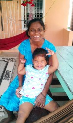Helo Bissoon and her granddaughter
