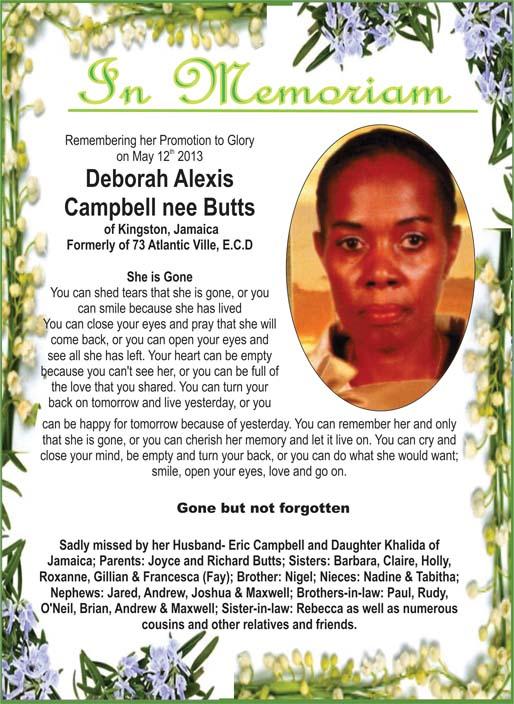 Deborah Campbell nee Butts