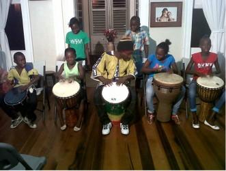 Buxton Fusion School of Music drumming away