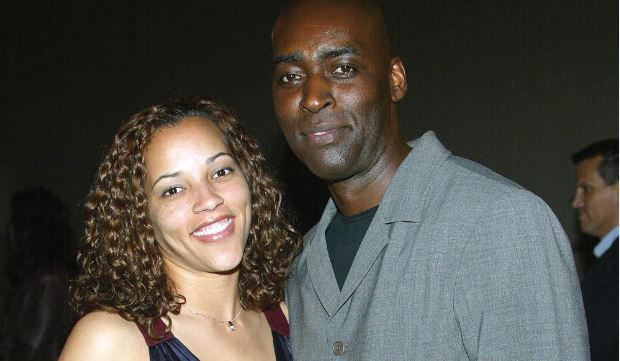 Actor Michael Jace (R) and wife April attend the third season premiere screening of 'The Shield' at the Zanuck Theater on March 8, 2004 in Los Angeles
