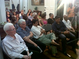 The audience at the conversation