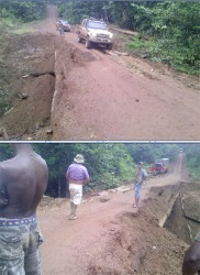 This collapsed bridge on the Linden-Lethem trail between Mabura and Kurupukari has limited supplies to Lethem.