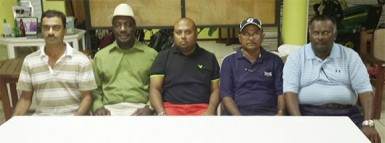 Members of the new executive of the Lusignan Golf Club following Saturday's annual general meeting.