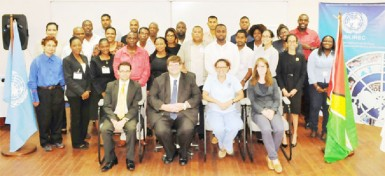 The participants with US embassy officials (US Embassy photo)