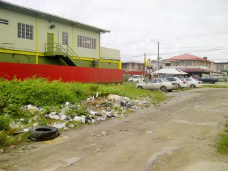 The deplorable Post Office Street – this is a local dumpsite for junkies on behalf of businesses