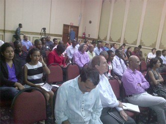Several representatives of the private sector attended the lecture to better inform themselves on AML/CFT regimes and how Guyana's current standing can affect their businesses