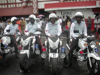 Some of the bikes issued to the traffic police