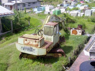 Excavator in need of repairs