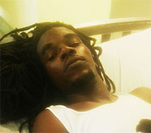 Neil Blackman resting at the Georgetown Public Hospital on Monday.