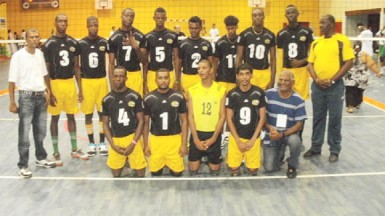 The senior men's volleyball team.