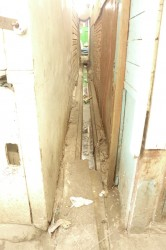 An alleyway in the Bourda Market that is in dire need of repairs