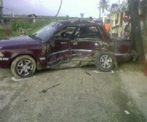 The car that the two injured persons were in