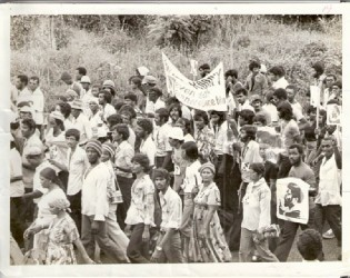 The funeral procession for Walter Rodney
