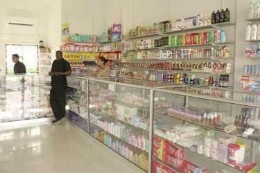 An array of over the counter products in MediCare Pharmacy