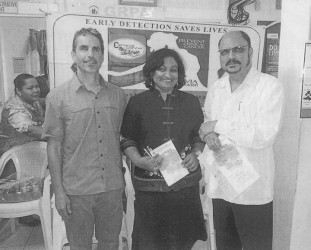 Launch of the VIA programme at GRPA Headquarters: (from left to right) Dr. John Varallo, GRPA Executive Director Patricia Sheerattan-Bisnauth & Minister of Health, Dr. Bheri Ramsaran.