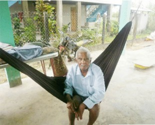 Basdeu Ramkisson in his hammock