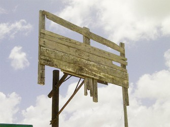The basketball board at the Primary School