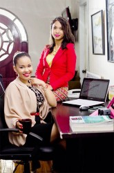 Akilah Mancey and Christine Gooding co-founders of Market Square at their office on Pike Street, Kitty