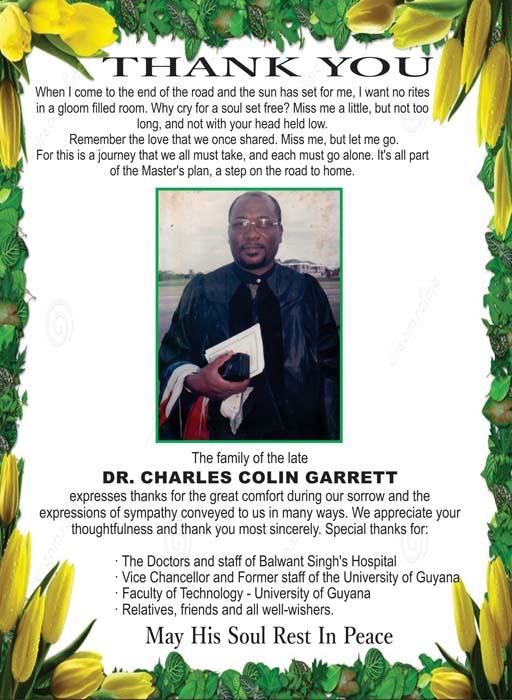 Dr. Charles Garrett