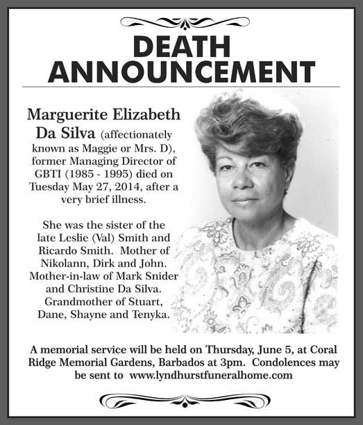 Marguerite Da Silva aka Maggie or Mrs. D