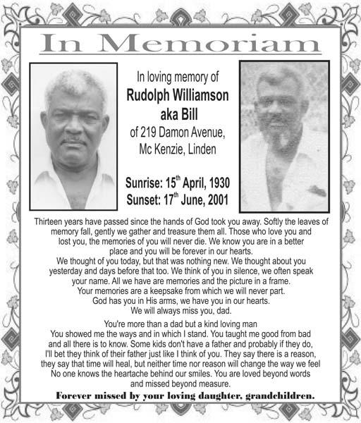 Rudolph Williamson aka Bill