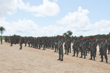 The new soldiers in formation (GDF photo)