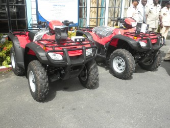 Two of the ATVs (Ministry of Natural Resources photo)