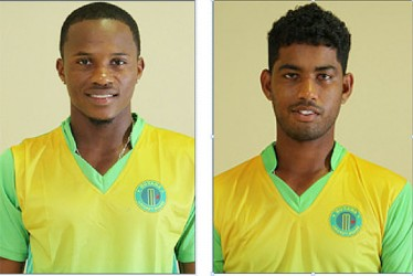 Trevon Griffith (left) and Robin Bacchus are looking forward to making their mark in this year's CPL