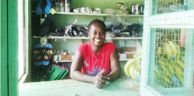 Carla Meusa in her shop