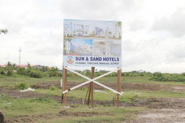 The Sun and Sand billboard at Liliendaal