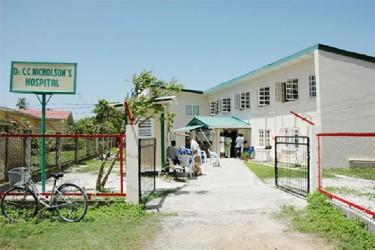 The CC Nicholson Hospital at Nabaclis, East Coast Demerara (Government Information Agency photo)