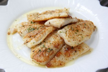 Whitefish in lemon butter sauce (Photo by Cynthia Nelson)