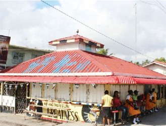 The Guinness Bar, located on the Plaisance line-top