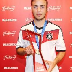 Germany's Mario Gotze, Budweiser Man of the Match (FIFA.com photo)