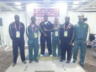 Guyana's contingent of lifters at the North American and Caribbean Powerlifting Championships which concluded on Saturday in St. Croix, USVI.