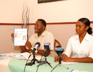 SASOD Managing Director Joel Simpson (left) speaks to reporters on the report alongside Social Change Consultant Tiffany Barry