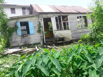 The abandoned house which collapsed on sleeping Dimitri Reece.