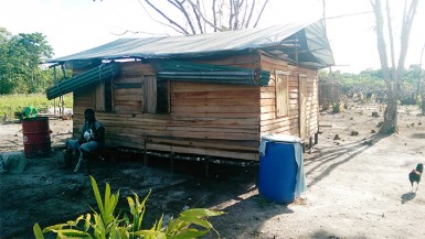 This house was built with scrap wood from a sawmill at a cost of around $30,000, its owner told Stabroek News. (Photo by Chevy Devonish)