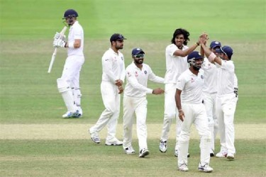 Ishant Sharma returned figures of 7 for 74 as India registered its first away Test victory since 2011. (ICC photo) See story page 27