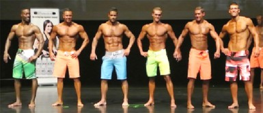 A Men's Physique line up