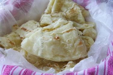 Soft, tender, flaky Paratha Roti (Photo by Cynthia Nelson)