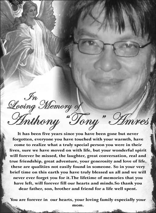 """Anthony """"Tony"""" Amres"""