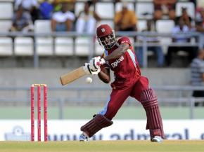 Man-of-the-Match Andre Fletcher goes on the attack during his top score of 52 on Saturday. (Photo courtesy WICB Media)