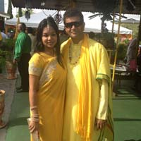 Better times: Sacha Singh and Chandresh Sharma.
