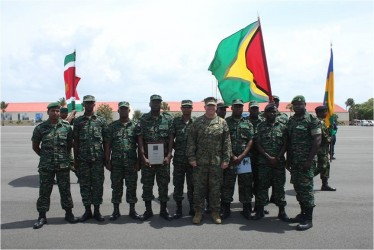 This GDF photo shows the contingent.
