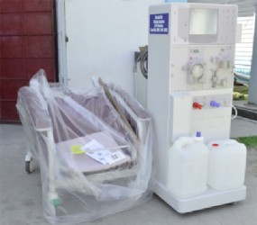 The new Dialysis Machine that is now a part of the Georgetown Public Hospital (GPHC). (GINA photo)