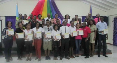 Participants in the recent Creativity for Employment and Business Opportunity (CEBO) programme in St. Vincent and the Grenadines. (Caricom Secretariat photo)