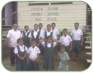The pupils of the Cashew Island Primary School (GDF photo)